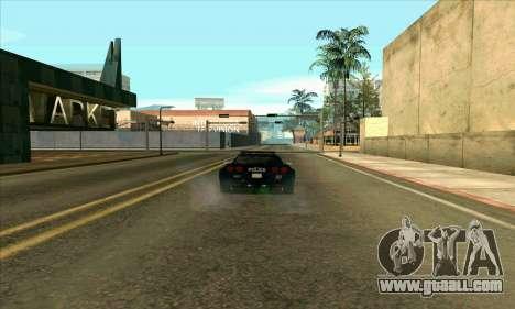FCPD Chevrolet Corvette Z06 for GTA San Andreas left view