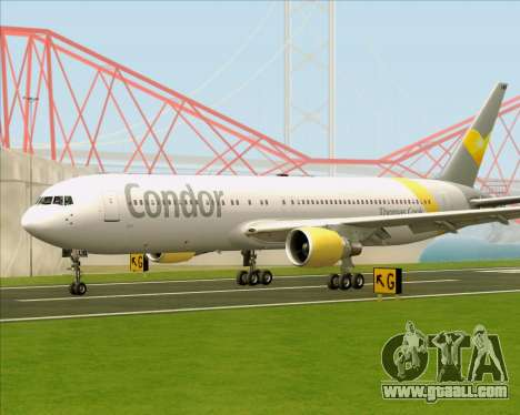 Boeing 767-330ER Condor for GTA San Andreas left view