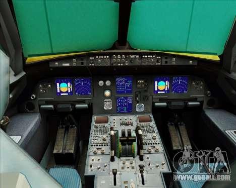 Airbus A321-200 for GTA San Andreas interior