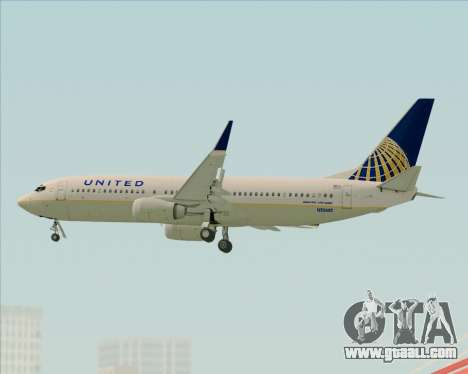 Boeing 737-824 United Airlines for GTA San Andreas upper view
