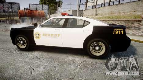 GTA V Bravado Buffalo LS Sheriff Black [ELS] for GTA 4 left view