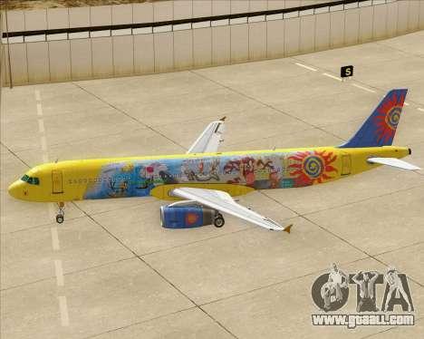 Airbus A321-200 for GTA San Andreas wheels