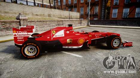 Ferrari F138 v2.0 [RIV] Alonso THD for GTA 4 left view
