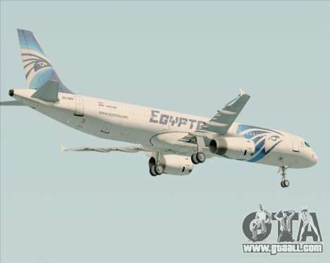 Airbus A321-200 EgyptAir for GTA San Andreas back view
