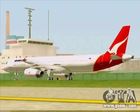 Airbus A321-200 Qantas for GTA San Andreas side view