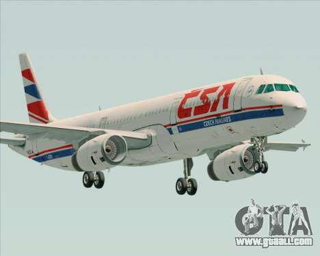 Airbus A321-200 CSA Czech Airlines for GTA San Andreas