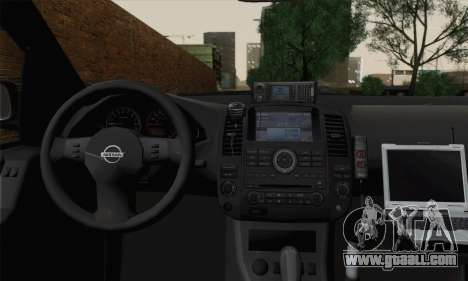 Nissan Pathfinder Policija for GTA San Andreas back left view