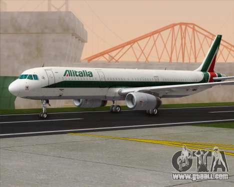Airbus A321-200 Alitalia for GTA San Andreas back left view