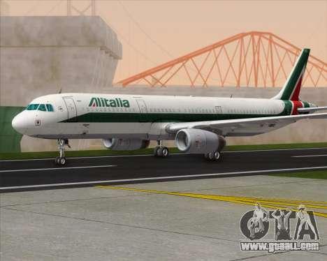 Airbus A321-200 Alitalia for GTA San Andreas back left view