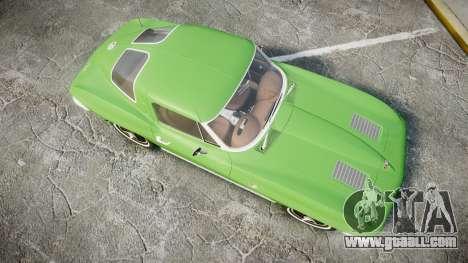 Chevrolet Corvette Stingray 1963 for GTA 4 right view