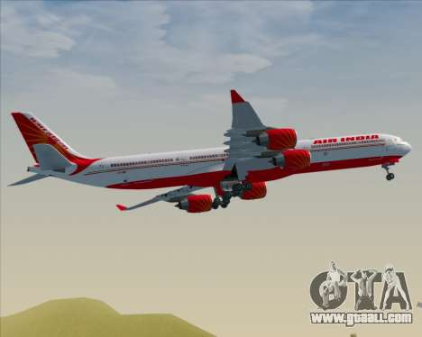Airbus A340-600 Air India for GTA San Andreas back view