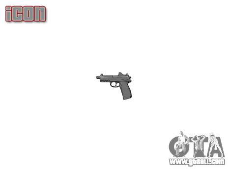 Gun FNP-45 for GTA 4 third screenshot
