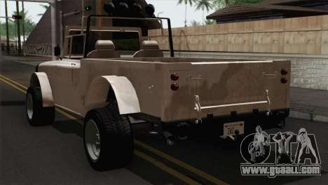 Canis Bodhi V1.0 Army for GTA San Andreas left view
