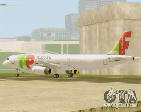 Airbus A321-200 TAP Portugal for GTA San Andreas bottom view