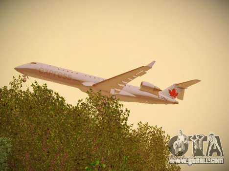 Bombardier CRJ-700 Air Canada Express for GTA San Andreas right view