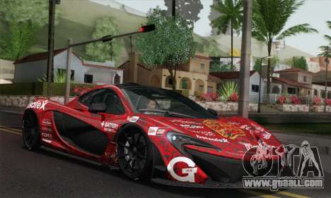 McLaren P1 HQ for GTA San Andreas bottom view