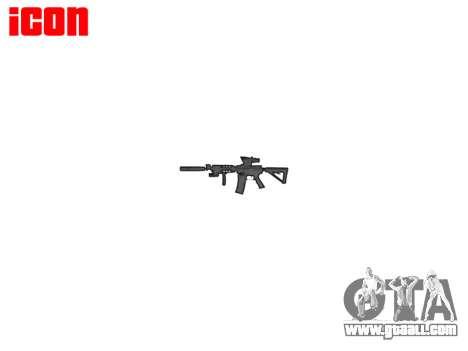 Machine Tactical M4A1 CQB for GTA 4 third screenshot