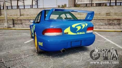 Subaru Impreza WRC 1998 Rally v2.0 Green for GTA 4 back left view