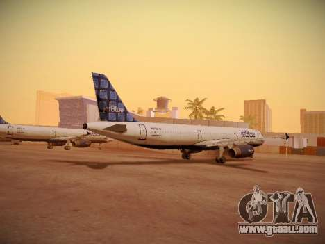 Airbus A321-232 jetBlue Blue Kid in the Town for GTA San Andreas back left view