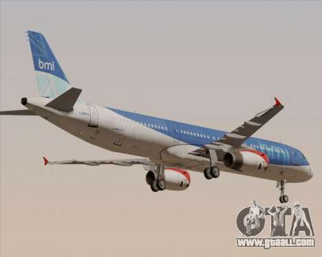 Airbus A321-200 British Midland International for GTA San Andreas upper view