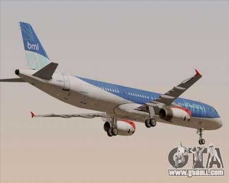 Airbus A321-200 British Midland International for GTA San Andreas upper view