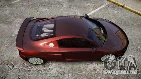 Audi R8 2010 Rotiform BLQ for GTA 4 right view