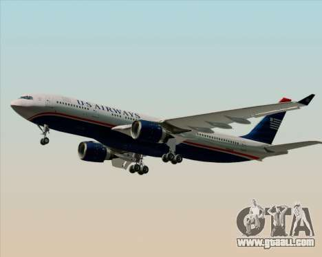 Airbus A330-200 US Airways for GTA San Andreas back left view