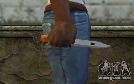 Knife from Half - Life Paranoia for GTA San Andreas third screenshot