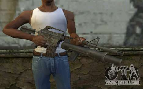 CAR-15 with XM-148 from Battlefield: Vietnam for GTA San Andreas third screenshot