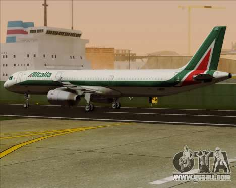Airbus A321-200 Alitalia for GTA San Andreas inner view