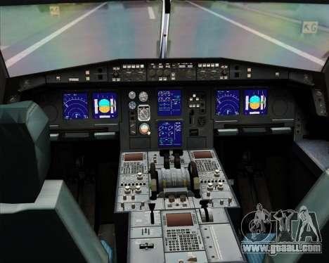 Airbus A330-300X Swiss International Air Lines for GTA San Andreas interior