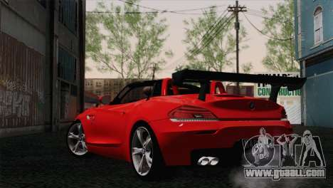 BMW Z4 sDrive28i 2012 Racing for GTA San Andreas left view