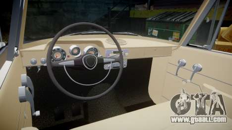 FSO Warszawa Ghia 1959 for GTA 4 inner view