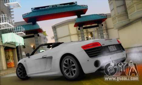 Audi R8 V10 Spyder 2014 for GTA San Andreas right view
