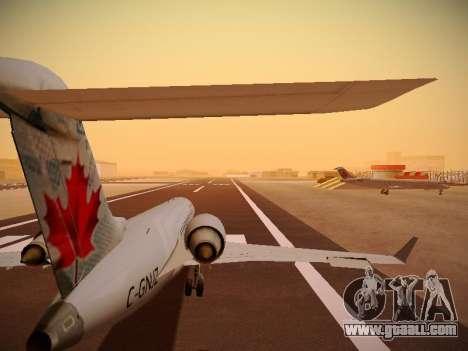 Bombardier CRJ-700 Air Canada Express for GTA San Andreas bottom view