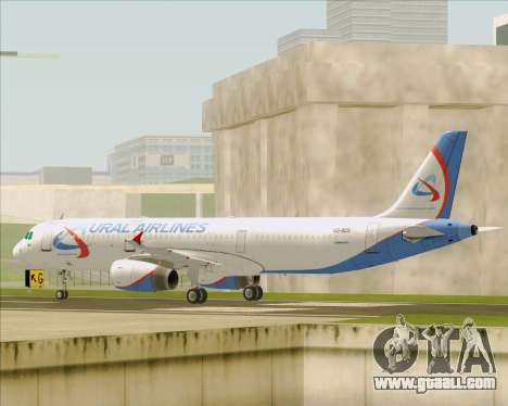 Airbus A321-200 Ural Airlines for GTA San Andreas back left view