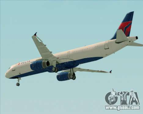 Airbus A321-200 Delta Air Lines for GTA San Andreas side view
