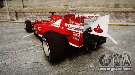 Ferrari F138 v2.0 [RIV] Alonso TMD for GTA 4 back left view
