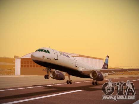Airbus A321-232 Big Blue Bus for GTA San Andreas left view