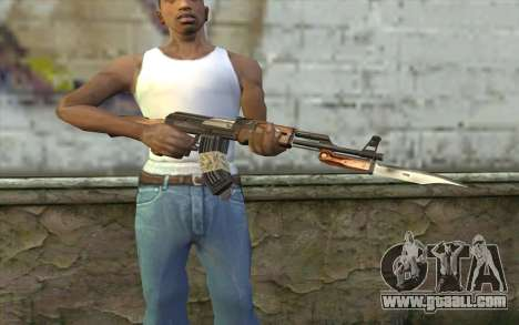 AK47 from Firearms v1 for GTA San Andreas third screenshot