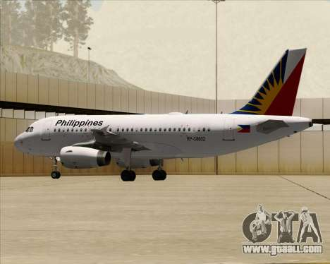 Airbus A319-112 Philippine Airlines for GTA San Andreas side view