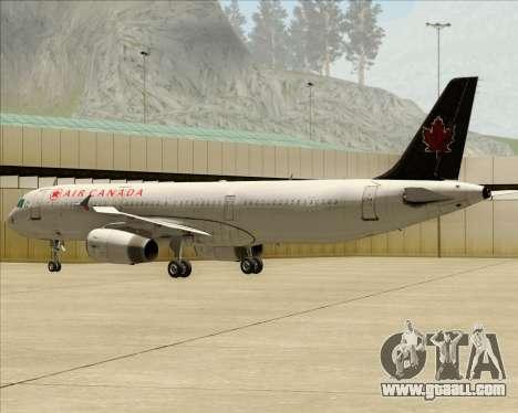 Airbus A321-200 Air Canada for GTA San Andreas right view