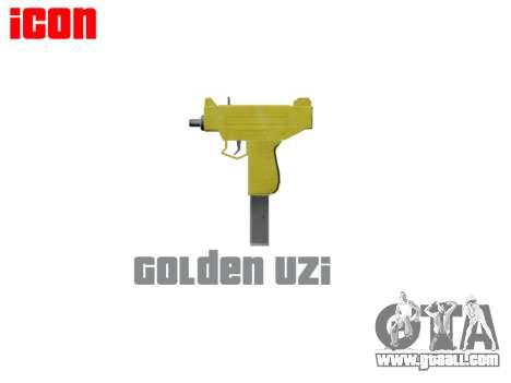 Golden Uzi for GTA 4 third screenshot