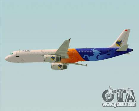 Airbus A321-200 Myanmar Airways International for GTA San Andreas bottom view