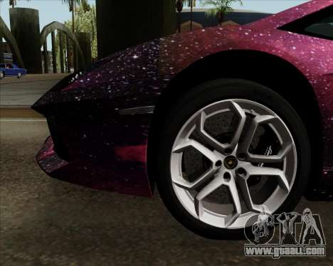 Lamborghini Aventador for GTA San Andreas bottom view