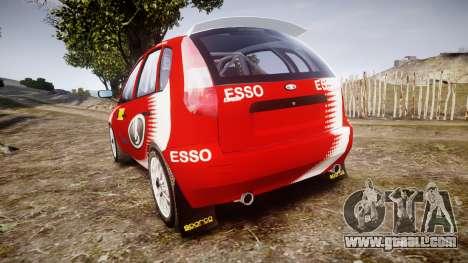 VAZ-Kalina 1119 RallyCross for GTA 4 back left view