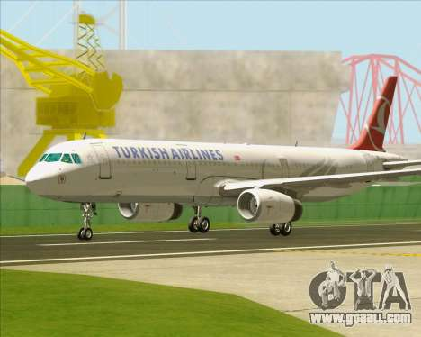Airbus A321-200 Turkish Airlines for GTA San Andreas bottom view