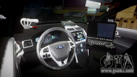 Ford Explorer 2013 Sheriff [ELS] Virginia for GTA 4 back view