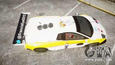 Lamborghini Murcielago GT1 Hanayo Koizumi for GTA 4 right view