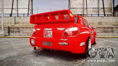 Subaru Impreza WRX STI Street Racer for GTA 4 back left view